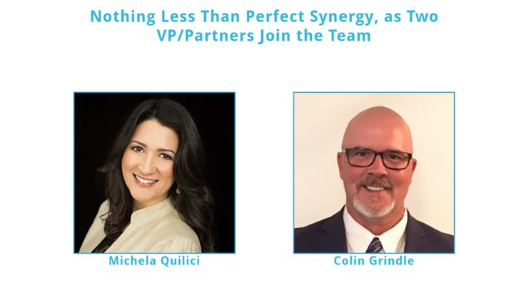 Welcome Michela Quilici & Colin Grindle as VP's and Partners of Synergy CMC